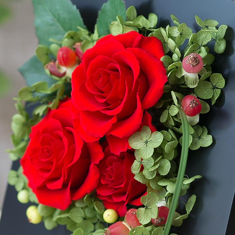 プリザーブドフラワー「ロマンティック 香り立つ高貴なバラ(プリザーブドフラワー・アレンジメント)」の詳細その4