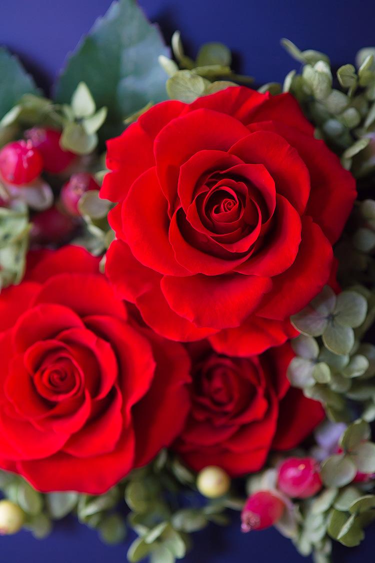 プリザーブドフラワー「ロマンティック 香り立つ高貴なバラ(プリザーブドフラワー・アレンジメント)」の詳細その5