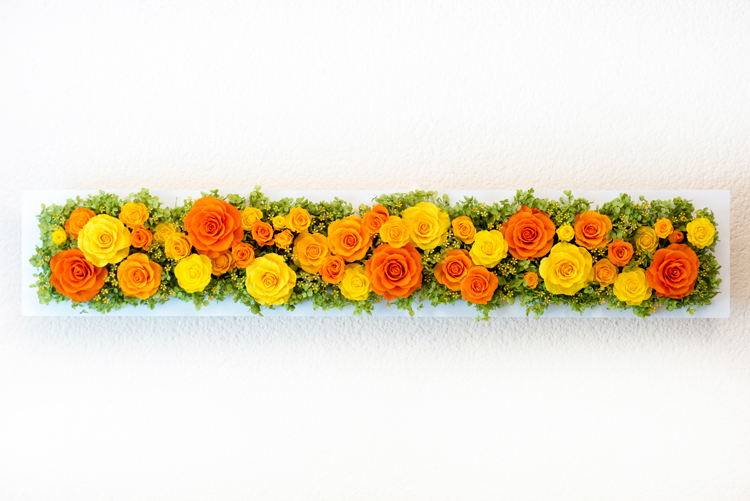 プリザーブドフラワー「シンフォニーシリーズ「オレンジ」(プリザーブドフラワー・アレンジメント)」の詳細その2
